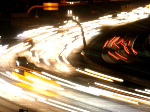 NTSC freeway traffic time lapse on a curve
