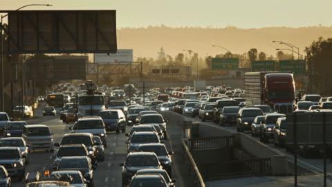 la freeway traffic - traffic jam stock videos & royalty-free footage