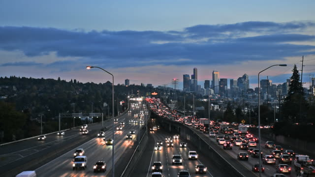 stockvideo's en b-roll-footage met seattle, washington freeway - noordelijke grote oceaan