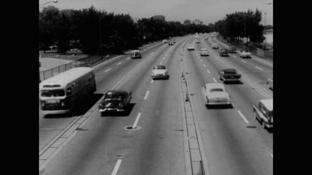 1960 freeway - black and white stock videos & royalty-free footage