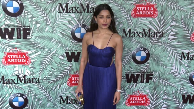 freida pinto at 10th annual women in film pre-oscar cocktail party presented by max mara and bmw at nightingale plaza on february 24, 2017 in los... - nightingale stock videos & royalty-free footage