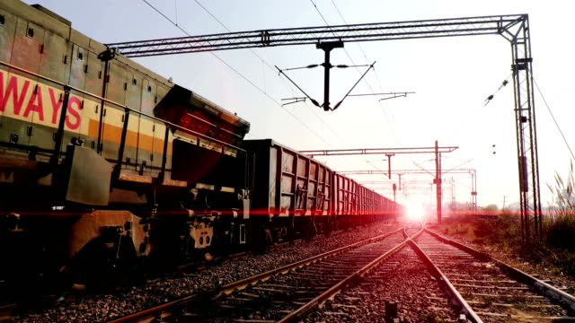 freight rail in 4k resolution - rail transportation stock videos & royalty-free footage