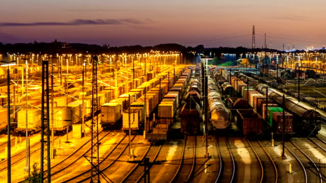freight station with trains - rail freight stock videos and b-roll footage
