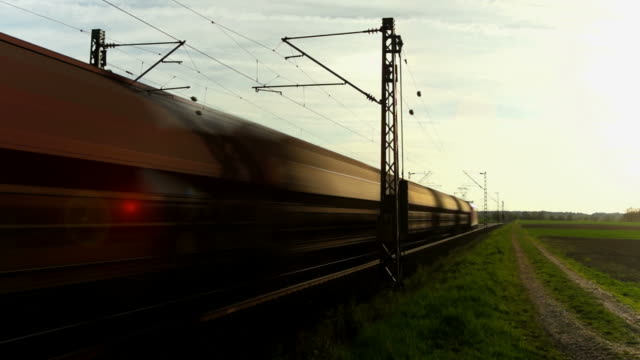 PAN Freight Train Passing By At Dusk