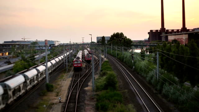 freight trains, waggons and railways in wolfsburg (germany) - wolfsburg lower saxony stock videos and b-roll footage