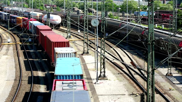 freight trains, wagons and railways - shunting yard stock videos and b-roll footage