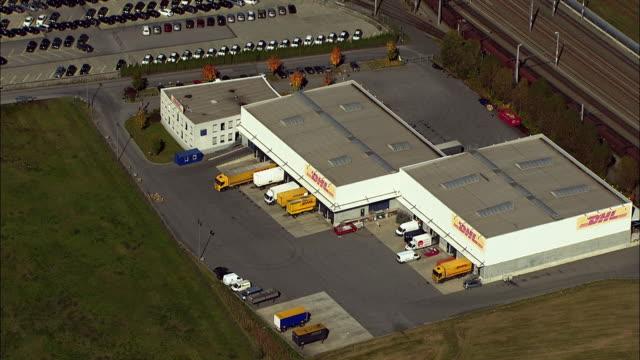 aerial freight transportation depot / kalsdorf bei graz, styria, austria - fleet of vehicles stock videos and b-roll footage