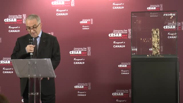 French Academy of Cinema Arts and Techniques President Alain Terzian announces the nominees for the 42nd Cesar film awards during a press conference...