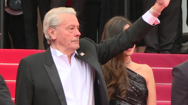 FRA: Alain Delon arrives in Cannes to receive an honorary Palme d'or