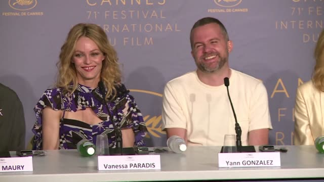 french actress and singer vanessa paradis who plays a producer of gay porn movies in yann gonzalez's thriller knife heart says she is very happy to... - 71st international cannes film festival stock videos & royalty-free footage