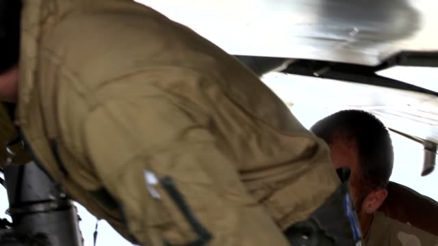 stockvideo's en b-roll-footage met french air force mirage 2000d getting ready for a mission at kandahar air field in support of operation enduring freedom. - operation enduring freedom