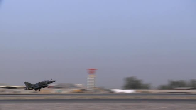 french air force mirage 2000d getting ready for a mission at kandahar air field in support of operation enduring freedom - operation enduring freedom stock videos & royalty-free footage