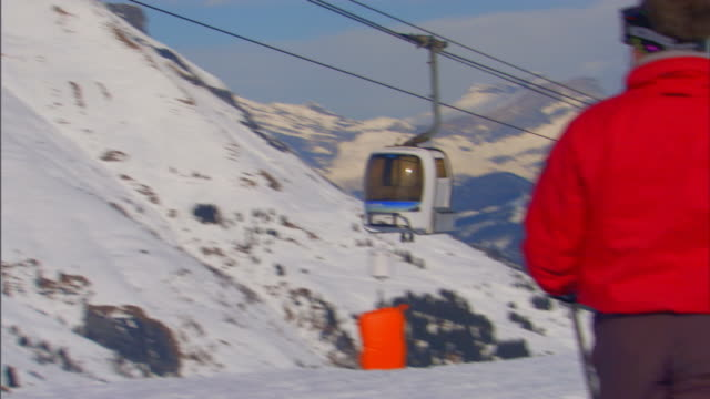 french alpspeople skiing - ski pole stock videos & royalty-free footage