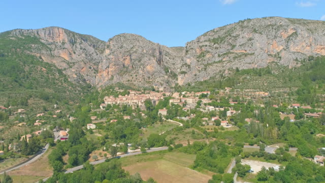 aerial french ancient village in provence - provence alpes cote d'azur stock videos & royalty-free footage