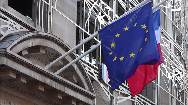 french and european flag - french flag stock videos & royalty-free footage