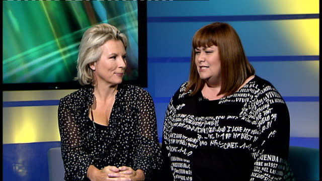 french and saunders interviewed on their farewell london stage show england london gir int comedians jennifer saunders and dawn french live interview... - jennifer saunders stock videos & royalty-free footage