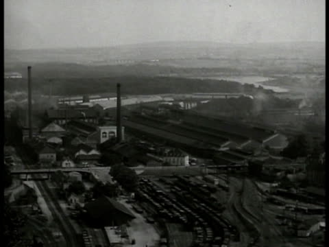 french armament factory of schnider-cresot huge complex. - 1934 stock videos & royalty-free footage