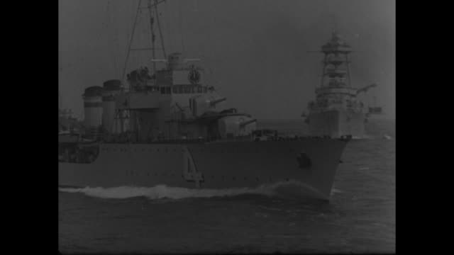 vs french battleships and the bow of a ship cutting through the water / intertitle / two of the ships steaming forward and heading toward the shore /... - dappled light stock videos and b-roll footage