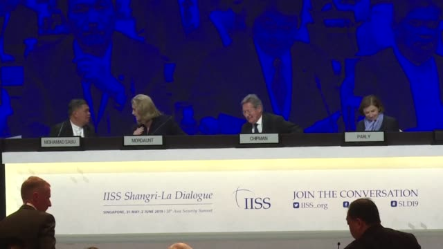 french british and malaysian defence chiefs speak about global security and the south china sea among other issues at asia's top defence summit known... - other stock videos and b-roll footage