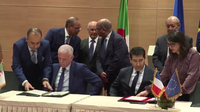 french carmaker psa signed a deal on sunday with three algerian firms to set up a car manufacturing base in the north african country with production... - psa stock videos & royalty-free footage
