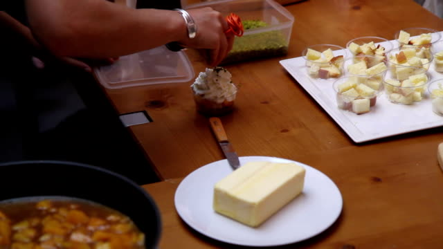 french cooking class - butter stock videos and b-roll footage