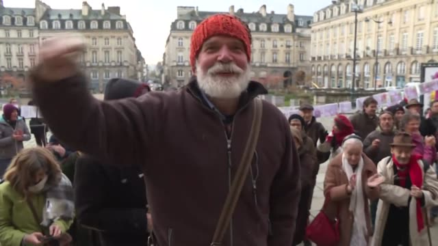 a french court orders the release of anti globalisation anarchist vincenzo vecchi a refugee in brittany on the grounds the italian justice system's... - releasing stock videos & royalty-free footage