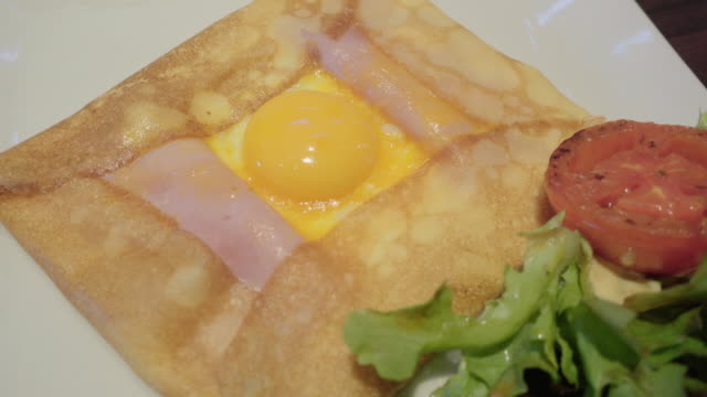 french crepe - crepe stock videos & royalty-free footage