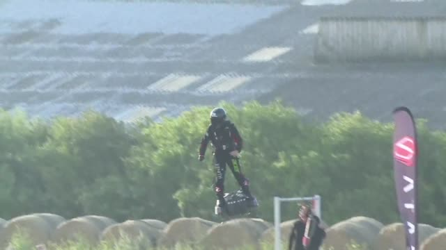 a french daredevil who spent years developing a jet powered hoverboard has zoomed across the english channel fulfilling his quest after pulling off a... - innovation stock videos & royalty-free footage