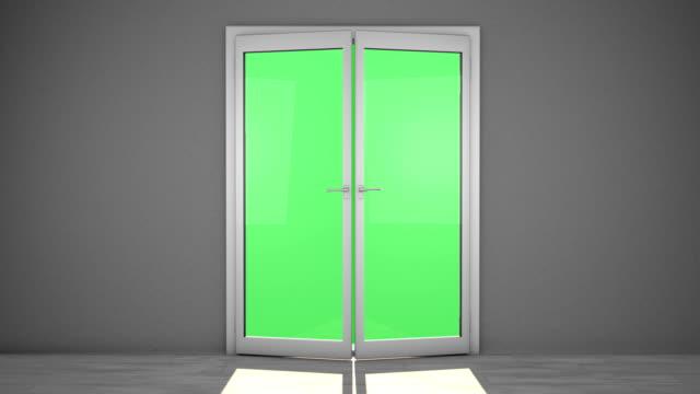 stockvideo's en b-roll-footage met french doors - tuindeur