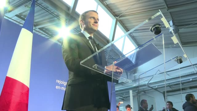 stockvideo's en b-roll-footage met french execonomy minister emmanuel macron a 38yearold political novice announced his bid for the presidency on wednesday as an alternative to the... - bod