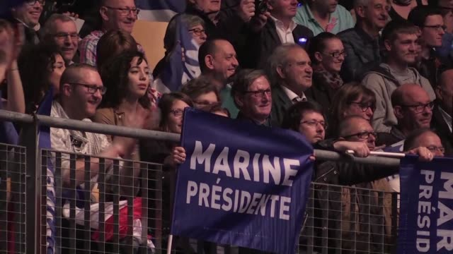 french far right presidential candidate marine le pen campaigns in the northern city of lille - lille stock videos & royalty-free footage