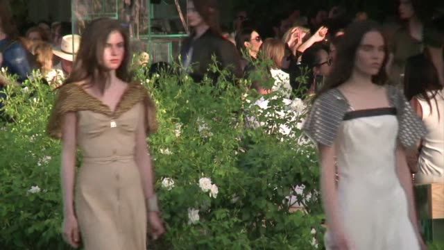 french fashion designer nicolas ghesquiere presents his 2016 cruise collection for louis vuitton - cruise collection stock videos & royalty-free footage