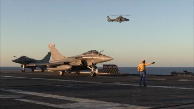 French fighter jets took off from the Charles de Gaulle aircraft carrier on Friday for an operation against the Islamic State group in its Iraqi...