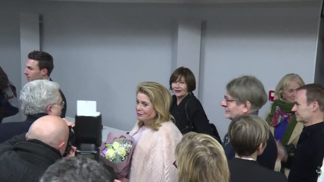 French film star Catherine Deneuve is at the Angers film festival as a member of the judging panel