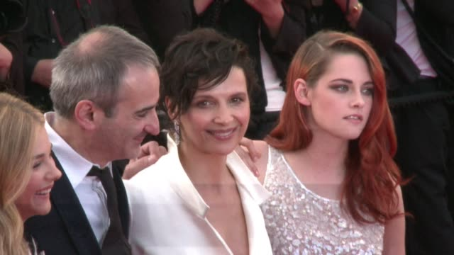 french filmmaker olivier assayas presents 'sils maria' at the cannes film festival and walks the carpet with hist cast including oscar winning french... - juliette binoche stock videos & royalty-free footage