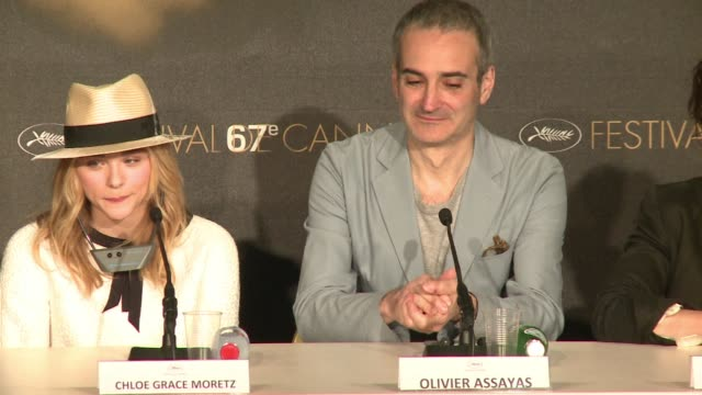 french filmmaker olivier assayas presents 'sils maria' in the main competition of the cannes film festival the story of an actress at the peak of her... - juliette binoche stock videos & royalty-free footage