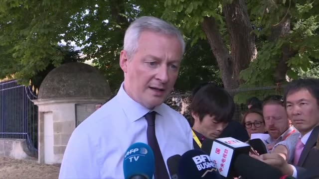 French finance minister Bruno Le Maire expects difficult discussions with the United States regarding France's Gafa tax on digital giants during a G7...
