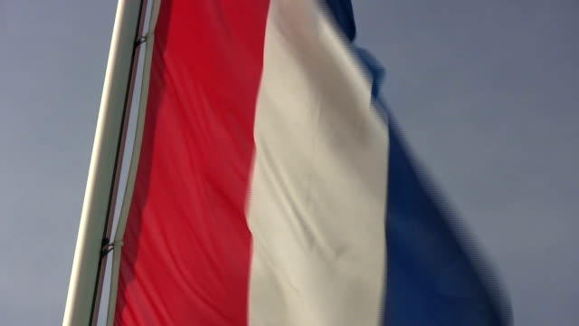 french flag in the wind - french flag stock videos & royalty-free footage
