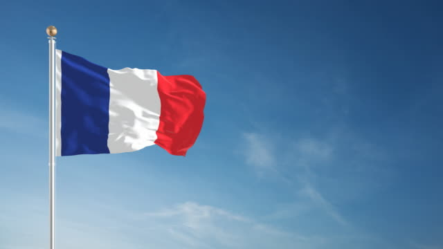 4k french flag - loopable - french flag stock videos & royalty-free footage