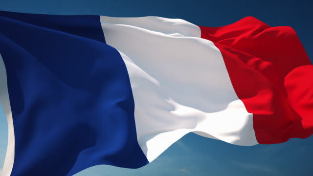 4k french flag - loopable - french culture stock videos & royalty-free footage