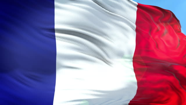 french flag - slow motion - 4k resolution - french flag stock videos & royalty-free footage