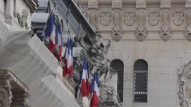 French Flags, Gare de Lyon, Paris, France, Europe
