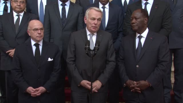 french foreign minister jean marc ayrault and interior minister bernard cazeneuve visit ivory coast after a deadly weekend attack on a beach resort... - bernard cazeneuve stock videos & royalty-free footage