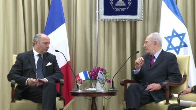 french foreign minister laurent fabius arrived in israel on sunday to discuss a possible ceasefire between israel and armed palestinian militant... - militant groups stock videos and b-roll footage