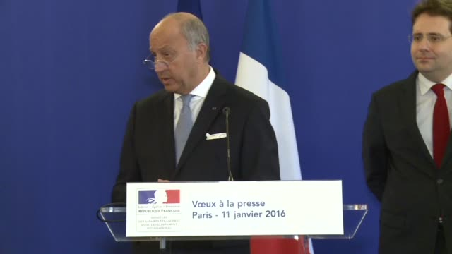 french foreign minister laurent fabius calls on the syrian regime to end the siege of rebelheld madaya and said a halt to air strikes by the regime... - foreign minister stock videos and b-roll footage