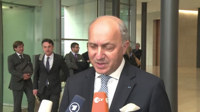 french foreign minister laurent fabius warns that any deal with iran has to be robust and verifiable to ensure no backsliding spelling out frances... - spelling stock videos & royalty-free footage