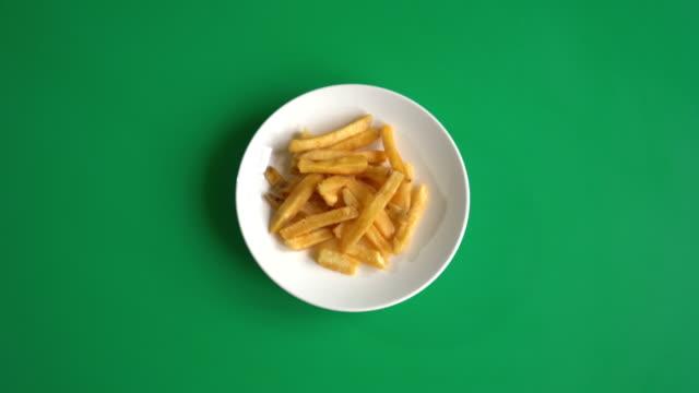 Pommes Frites auf green-screen