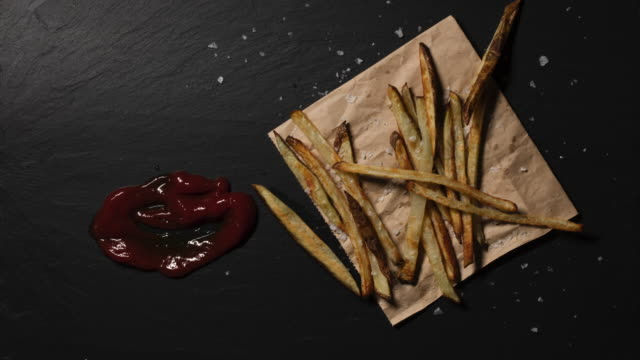 french fries - serving tray stock videos and b-roll footage