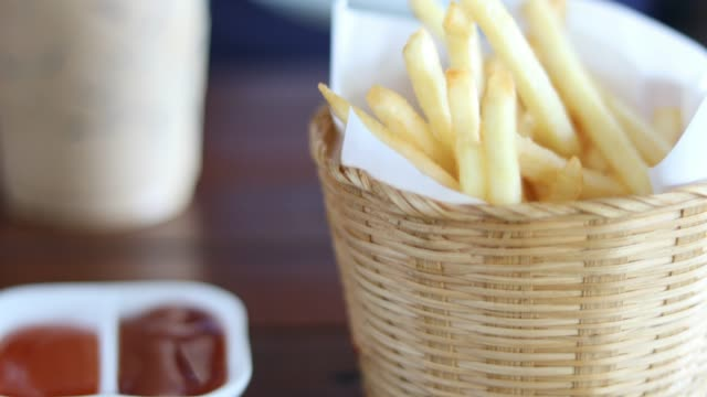 french fries - sauce stock videos & royalty-free footage