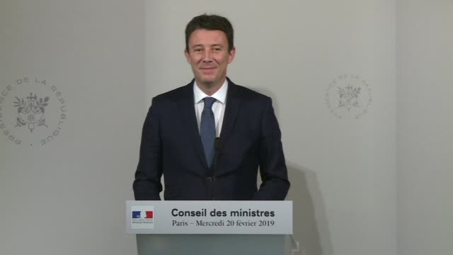 french government spokesman benjamin griveaux denounces untruths in the senate's investigation report on the government's handling of a scandal... - benjamin griveaux stock videos & royalty-free footage